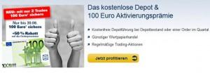 1822direkt: Kostenloses Depot + 100 Euro Aktivierungsprämie